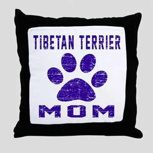Tibetan Terrier mom designs Throw Pillow