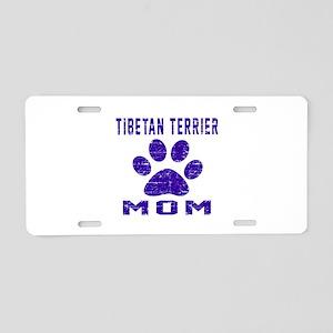 Tibetan Terrier mom designs Aluminum License Plate