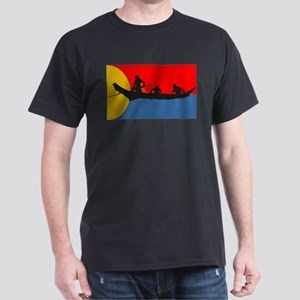 Indians in a Canoe Dark T-Shirt