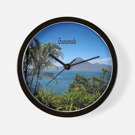 Guatemala, Nature's Beautiful Landscape Wall Clock