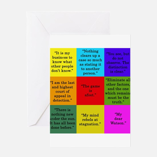 Sherlock Holmes Quotes Greeting Cards