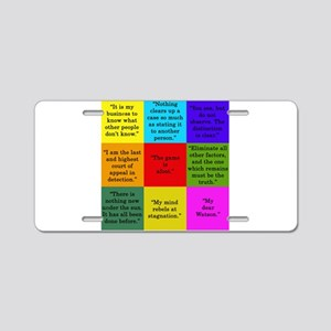 Sherlock Holmes Quotes Aluminum License Plate