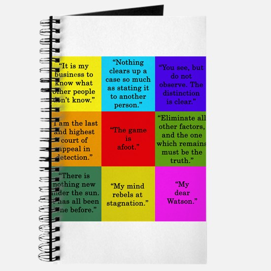 Sherlock Holmes Quotes Journal