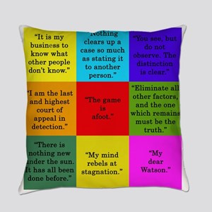 Sherlock Holmes Quotes Everyday Pillow