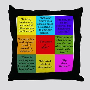 Sherlock Holmes Quotes Throw Pillow