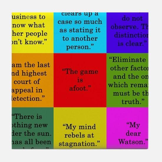 Sherlock Holmes Quotes Tile Coaster