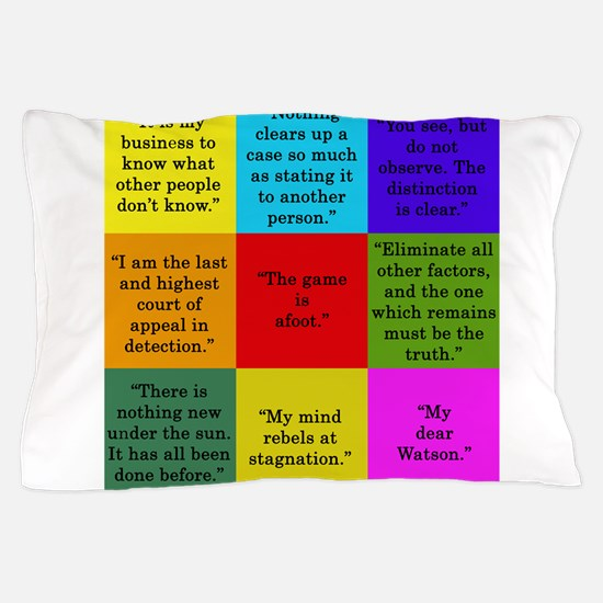 Sherlock Holmes Quotes Pillow Case