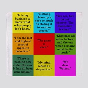 Sherlock Holmes Quotes Throw Blanket