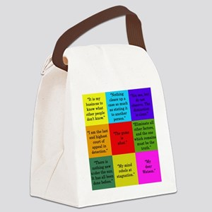 Sherlock Holmes Quotes Canvas Lunch Bag