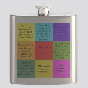 Sherlock Holmes Quotes Flask