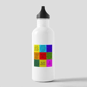 Sherlock Holmes Quotes Water Bottle