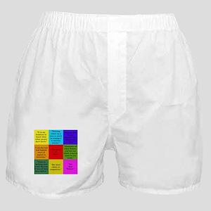 Sherlock Holmes Quotes Boxer Shorts