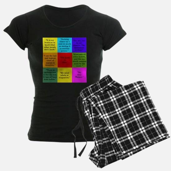 Sherlock Holmes Quotes Pajamas