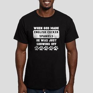 When God Made English Cocker Spaniels T-Shirt
