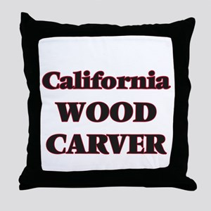 California Wood Carver Throw Pillow