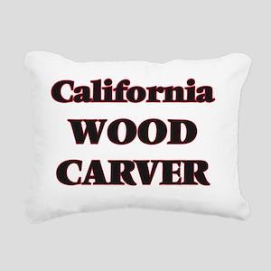 California Wood Carver Rectangular Canvas Pillow