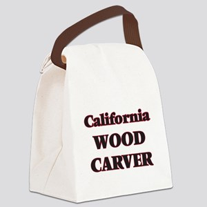 California Wood Carver Canvas Lunch Bag