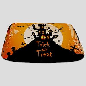 Castle On Halloween Night Bathmat