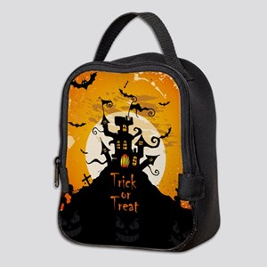 Castle On Halloween Night Neoprene Lunch Bag