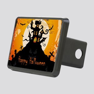 Castle On Halloween Night Rectangular Hitch Cover