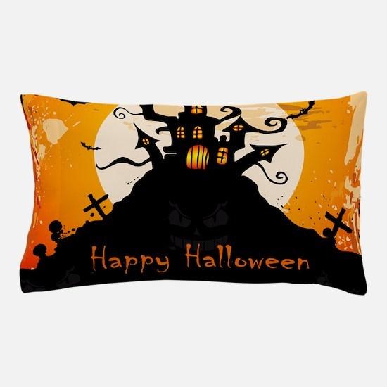 Castle On Halloween Night Pillow Case
