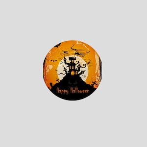 Castle On Halloween Night Mini Button
