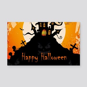 Castle On Halloween Night Rectangle Car Magnet