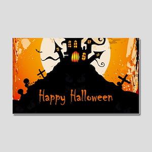 Castle On Halloween Night Car Magnet 20 x 12