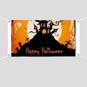 Castle On Halloween Night Banner