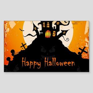 Castle On Halloween Night Sticker