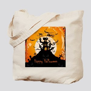 Castle On Halloween Night Tote Bag