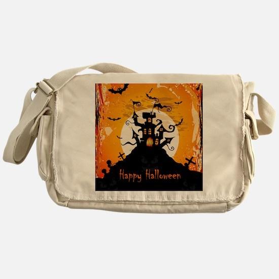 Castle On Halloween Night Messenger Bag