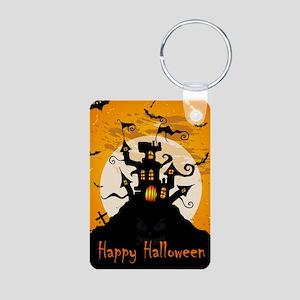 Castle On Halloween Night Keychains