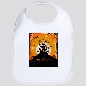 Castle On Halloween Night Bib