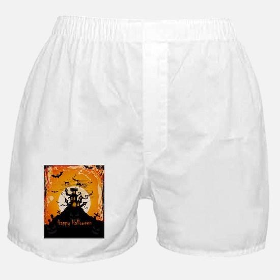 Castle On Halloween Night Boxer Shorts