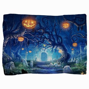 Halloween Night In Cemetery Pillow Sham