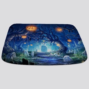 Halloween Night In Cemetery Bathmat