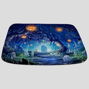 Halloween Night In Cemetery Bathmat