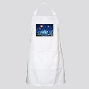 Halloween Night In Cemetery Apron