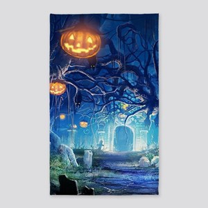 Halloween Night In Cemetery Area Rug