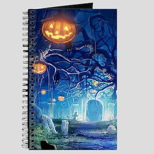 Halloween Night In Cemetery Journal