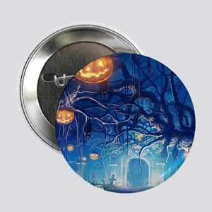 "Halloween Night In Cemetery 2.25"" Button (10 pack)"