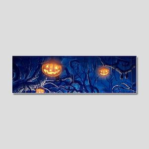 Halloween Night In Cemetery Car Magnet 10 x 3