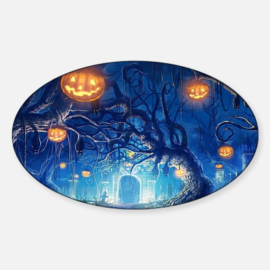 Halloween Night In Cemetery Decal