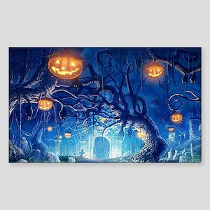 Halloween Night In Cemetery Sticker