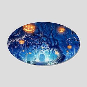 Halloween Night In Cemetery Wall Sticker