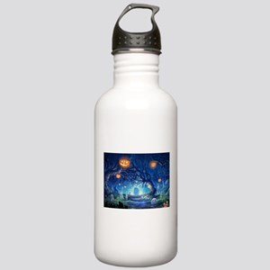 Halloween Night In Cemetery Sports Water Bottle