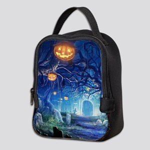 Halloween Night In Cemetery Neoprene Lunch Bag