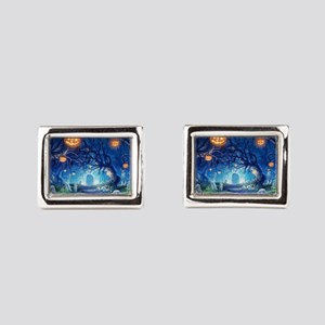 Halloween Night In Cemetery Rectangular Cufflinks