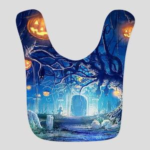 Halloween Night In Cemetery Bib